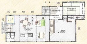 リノベ―ションショールーム間取り1階