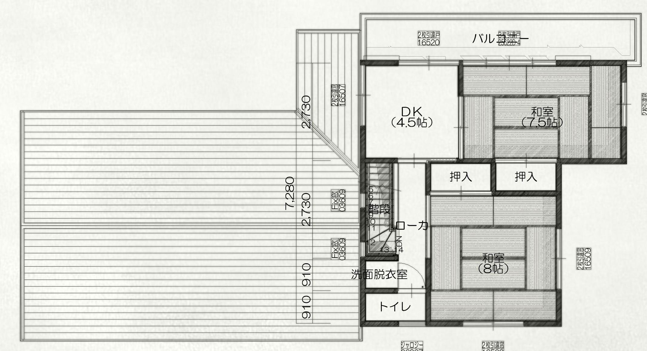 大村のリノベーションショールーム2階間取り図面